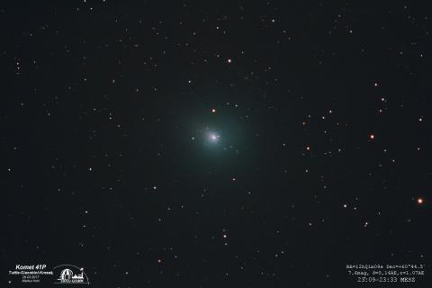 Komet 41P am 26.03.2017 vor weit entfernten Galaxien