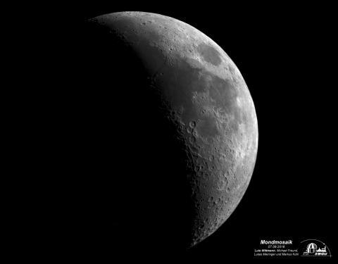 Mondmosaik, erstellt und bearbeitet von Luis Wittmann