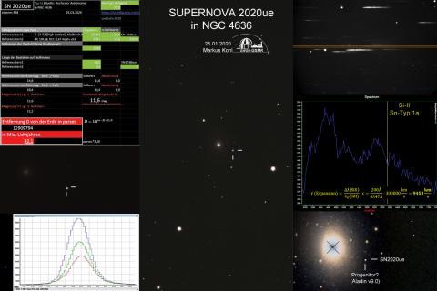 Supernova 2020ue Alle Informationen auf einen Blick